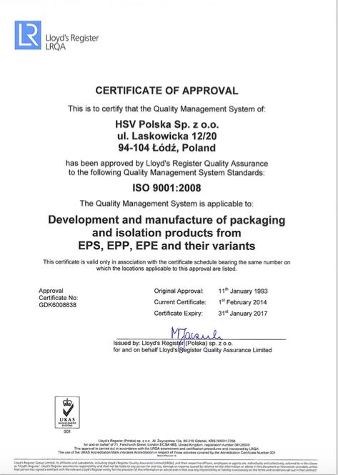 ISO certificaat 2017-2020